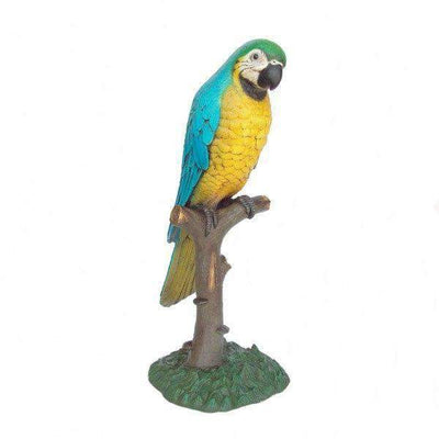 Bird Parrot On Tree Blue Animal Prop Life Size Resin Statue - LM Treasures Prop Rentals