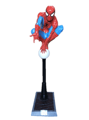 Super Hero Spider Man Life Size Statue Light Up Post Rubie's Licensed Foam Prop Classics Figurine Statue - LM Treasures Prop Rentals