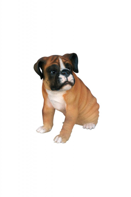 Dog Boxer Puppy Animal Prop Life Size D̩ecor  Resin Statue - LM Treasures Prop Rentals