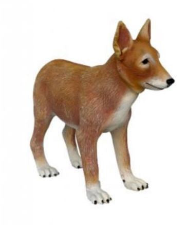 Dog Wild Coyote Puppy Animal Prop Life Size Decor Resin Statue - LM Treasures Prop Rentals