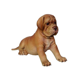 Dog Bordeaux Puppy Animal Prop Life Size D̩ecor Resin Statue - LM Treasures Prop Rentals
