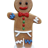 Gingerbread Papa Cookie Small Display Prop Decor Statue - LM Prop Rentals