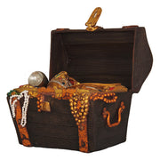 Treasure Chest Openable Statue Pirate Prop Resin Decor - LM Prop Rentals