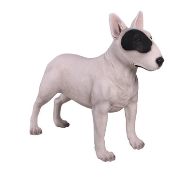 Dog Bull Terrier White Animal Prop Life Size D̩ecor  Resin Statue - LM Prop Rentals