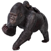 Gorilla Silver Back With Baby Jungle Prop Life Size Resin Statue - LM Treasures Prop Rentals