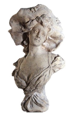 Bust Stone Suzanne Greek Roman Prop Resin Decor - LM Prop Rentals