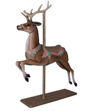 Carousel Reindeer Majestic Resin Statue Display Prop - LM Treasures Prop Rentals
