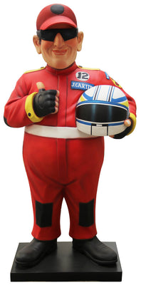 Cartoon Racer Man Life Size Prop Decor Resin Statue - LM Prop Rentals