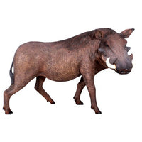 Pig Wild African Warthog Animal Prop Life Size Decor Resin Statue - LM Treasures Prop Rentals