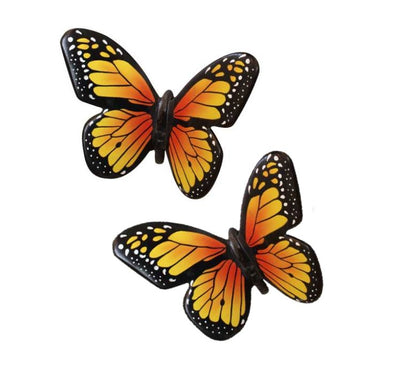Insect Butterfly Small Set of 2 Bug Prop Resin Decor Statue - LM Prop Rentals
