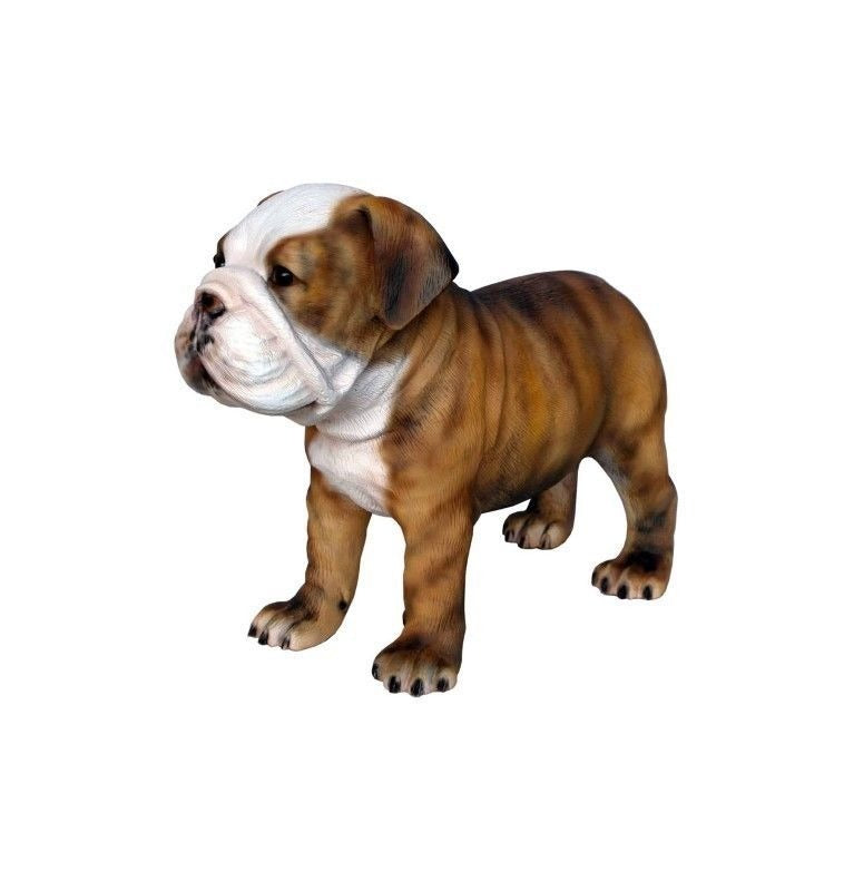 Dog Bulldog Puppy Animal Prop Life Size D̩ecor Resin Statue - LM Treasures Prop Rentals