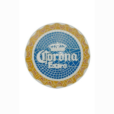 Sign Corona Extra Looks Like Mosaic Wall Plaque Decor - LM Prop Rentals