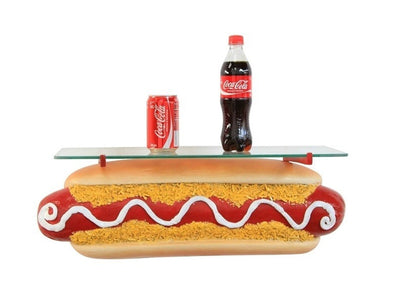 Hot Dog Wall Shelf Over Sized Restaurant Prop Resin Statue - LM Treasures Prop Rentals
