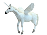 Unicorn With Wings Mythical Prop Decor Statue - LM Treasures Prop Rentals
