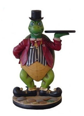 Animal Butler Turtle Prop Decor Resin Statue - LM Treasures Prop Rentals