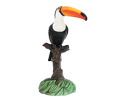 Bird Toucan On Tree Animal Prop Life Size Resin Statue - LM Treasures Prop Rentals
