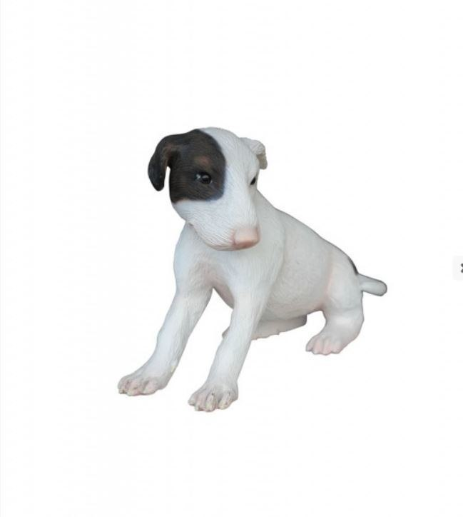 Dog Bull Terrier Puppy Animal Prop Life Size D̩ecor  Resin Statue
