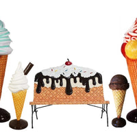 Ice Cream Package Life Size Resin Statues