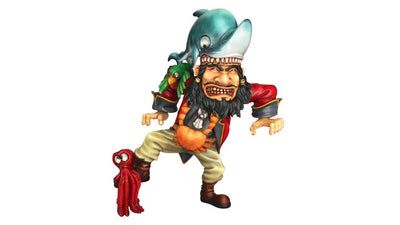 Pirate and Shark Life Size Pirate Prop Decor Resin Statue - LM Treasures Prop Rentals