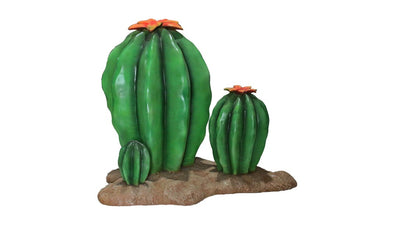 Cactus Cacti Bundle of 3 Life Size Cowboy Prop Decor Resin Statue - LM Treasures Prop Rentals