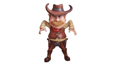 Cowboy Comic Life Size Cowboy Prop Decor Resin Statue - LM Treasures Prop Rentals