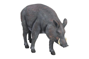 Pig Wild Boar Animal Prop Life Size Decor Resin Statue - LM Treasures Prop Rentals