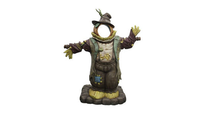 Scarecrow Photo Op Life Size Farmer Prop Decor Resin Statue - LM Prop Rentals