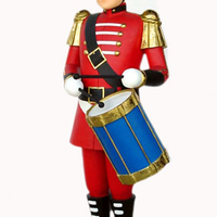 Soldier Drummer Boy Christmas Nutcracker 5 ft Tall - LM Prop Rentals