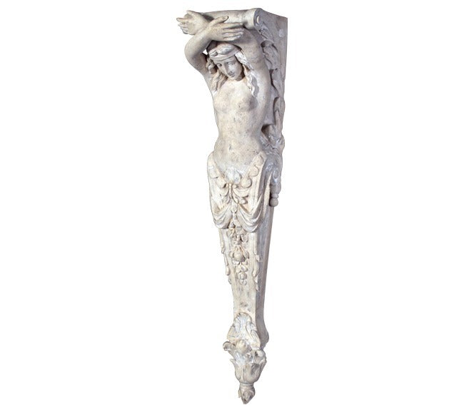 Column Stone Lady Pilaster Small Greek Roman Prop Resin Decor - LM Treasures Prop Rentals