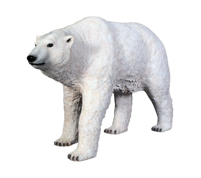 Bear Polar Walking Forest Prop Life Size Decor Resin Statue - LM Treasures Prop Rentals