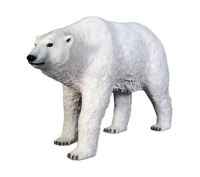 Bear Polar Walking Forest Prop Life Size Decor Resin Statue - LM Prop Rentals