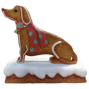 Gingerbread Dog Cookie Display Prop Decor Statue - LM Treasures Prop Rentals