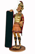 Knight Roman With Menu - LM Treasures Prop Rentals