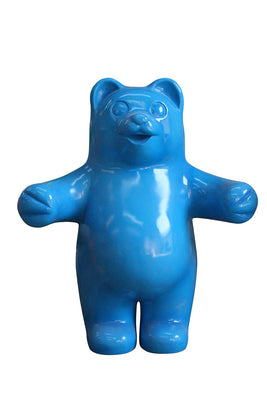 Candy Gummy Bear Blue Over Sized Prop Resin Statue - LM Treasures Prop Rentals