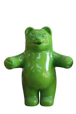 Candy Gummy Bear Green Over Sized Prop Resin Statue - LM Treasures Prop Rentals