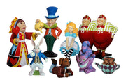 Alice in Wonderland Set of 8 Cartoon Resin Decor Statue - LM Prop Rentals