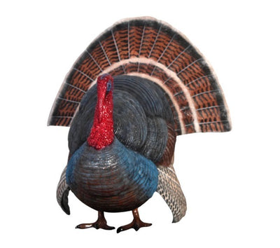 Bird Turkey Standing Animal Prop Life Size Resin Statue - LM Prop Rentals