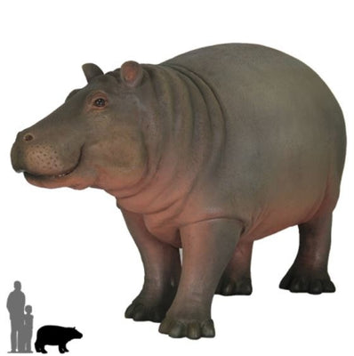 Hippo Baby # 1 Wild Animal Prop Life Size Decor Resin Statue - LM Treasures Prop Rentals