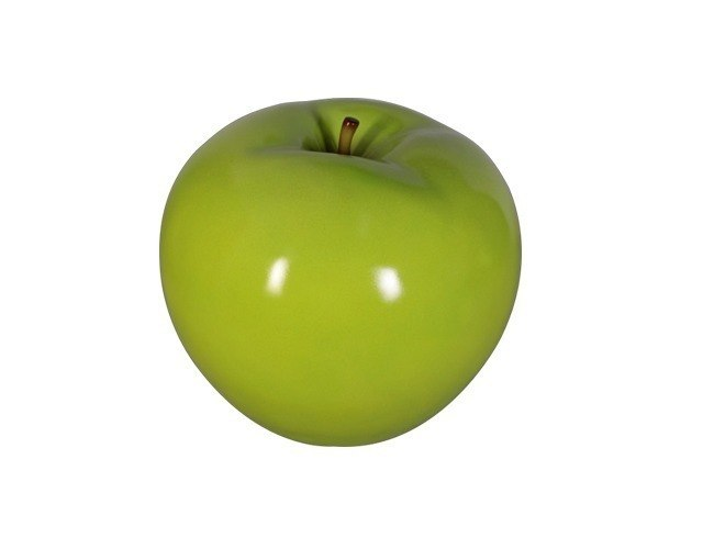 "Fruit Apple Green 7"" Over Sized Restaurant Prop Resin Statue - LM Prop Rentals"