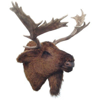 Moose Head Wall Mount Life Size Prop Resin Decor Statue - LM Prop Rentals