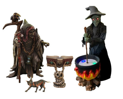 Halloween Witch Package Life Size Resin Statues