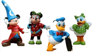 Mouse and Duck Package Cartoon Resin Decor Statue