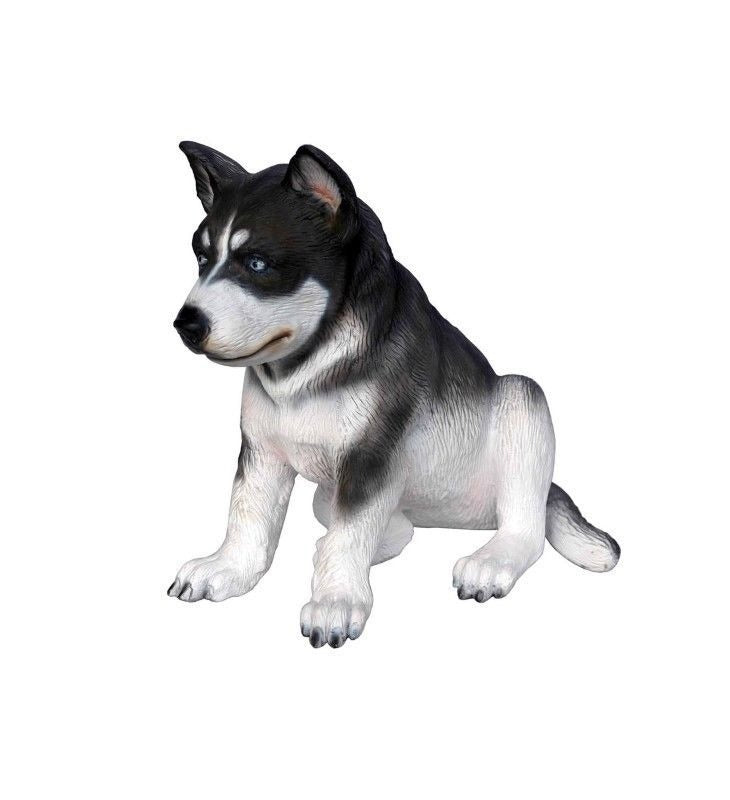 Dog Husky Puppy Animal Prop Life Size D̩ecor  Resin Statue - LM Treasures Prop Rentals