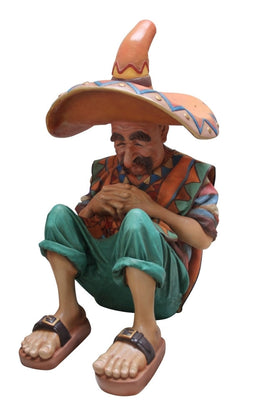 Mexican on Siesta Statue - LM Treasures Prop Rentals