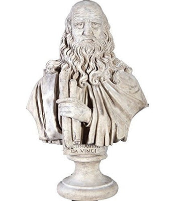 Bust Stone Leonardo Da Vinci Greek Roman Prop Resin Decor - LM Treasures Prop Rentals