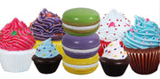 Cupcake Macaroon Package Over Sized Statues