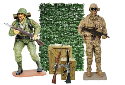 Army Soldier Package Life Size Resin Statues