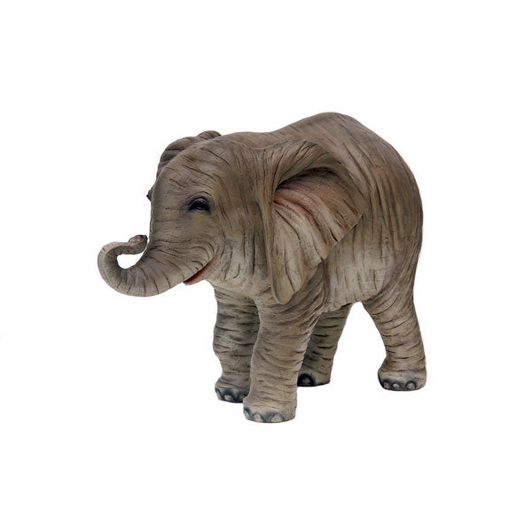 Elephant Baby Table Top Jungle Animal Resin Statue - LM Treasures Prop Rentals