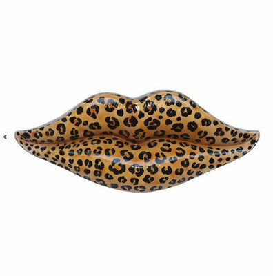 Lips Leopard Wall Decor Prop Resin Statue - LM Prop Rentals