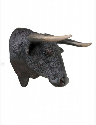 Bull Head Cow Farm Prop Life Size Decor Resin Statue - LM Prop Rentals